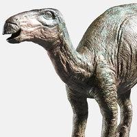 3D dinosaur iguanodon dino model