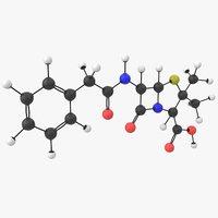 3D penicillin g molecule