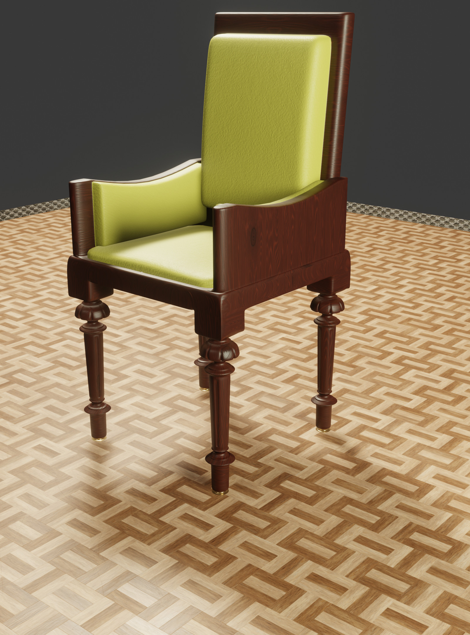 3D chair oriental model