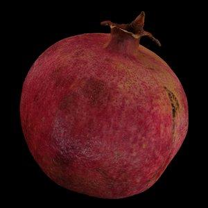 garnet fruit 3D model