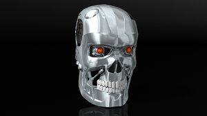3D t-800 head
