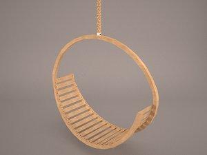 hanging hammock outdoor 3D model