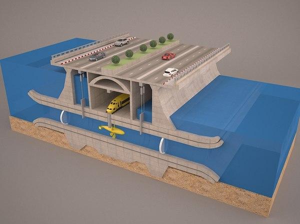 3D tunnel subway marmaray model