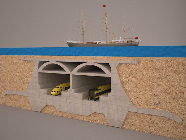 3D tunnel subway marmaray