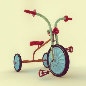 3D model bicycle kid ussr