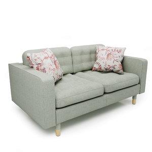 3D landskrona two-seater sofa model