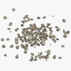 piles broken concrete 02 3D