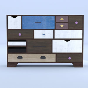 drawer retro 3D model