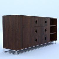 3D drawer wooden