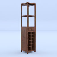 wine rack bookcase model