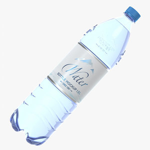 pet bottle 1 5 3D