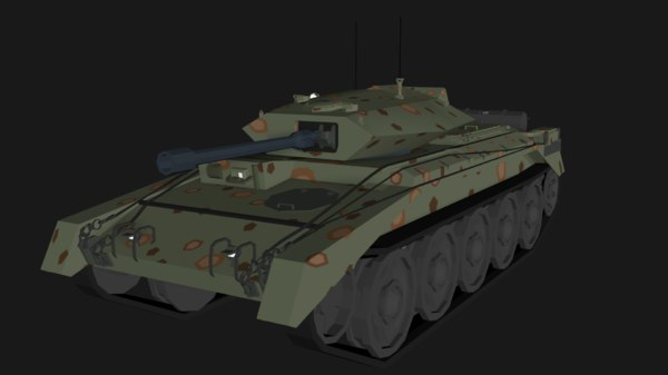 3D crusader tank isometric