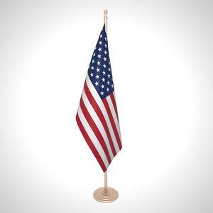 united states flag 3D model