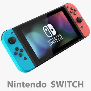 3D nintendo switch console joycon