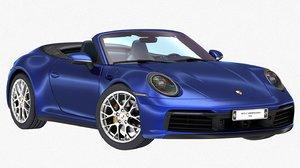 3D model porsche 911 carrera 4s