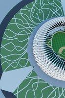 3D baseball stadium ball
