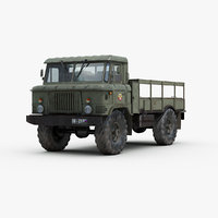 3d model russian gaz66 truck
