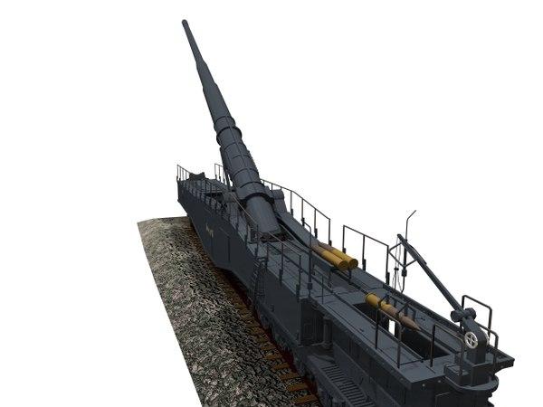 3D krupp artillery cannon