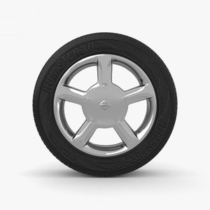 nissan rim wheel 3D model