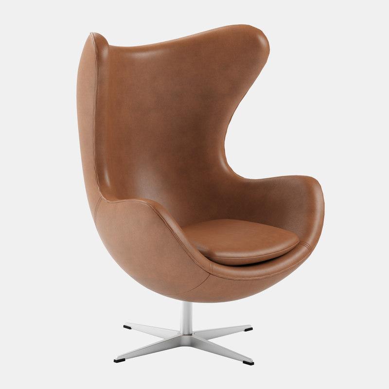 3D egg chair arne jacobsen