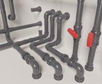 PVC modular pipe set