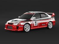 Mitsubishi Lancer Evolution 5 Rally Car