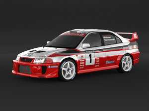 mitsubishi evolution rally 3D model
