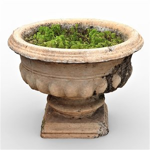 antique flower pot 3D model