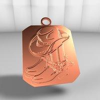 medal engraved gold model