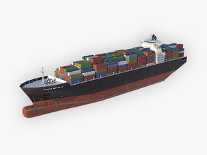 3D cargo ship clean