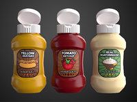 Cartoon Sauce Bottles
