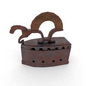 3D model vintage iron