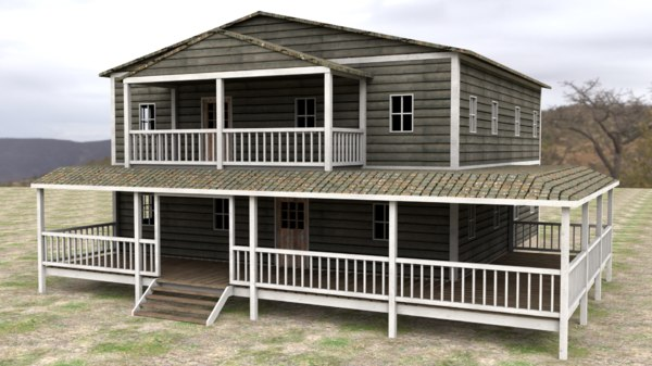 3D western ranch