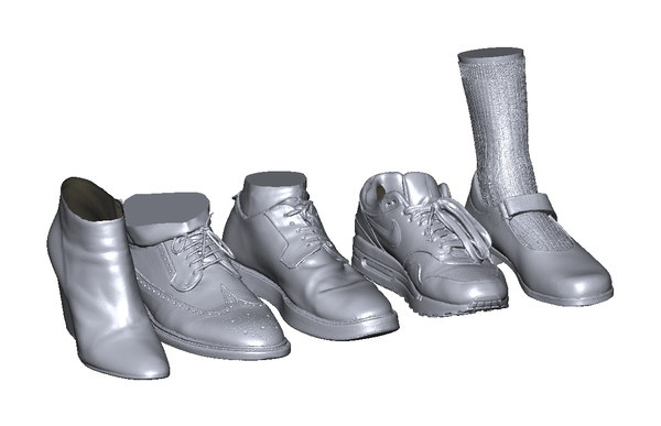 realistic shoes model