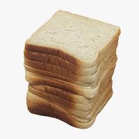 3D toast realistic