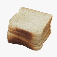 3D toast realistic model