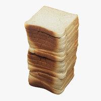 3D model toast realistic