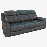 Jesolo Dark Gray Reclining Sofa