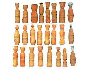 3D moroccan pitchers pack 25