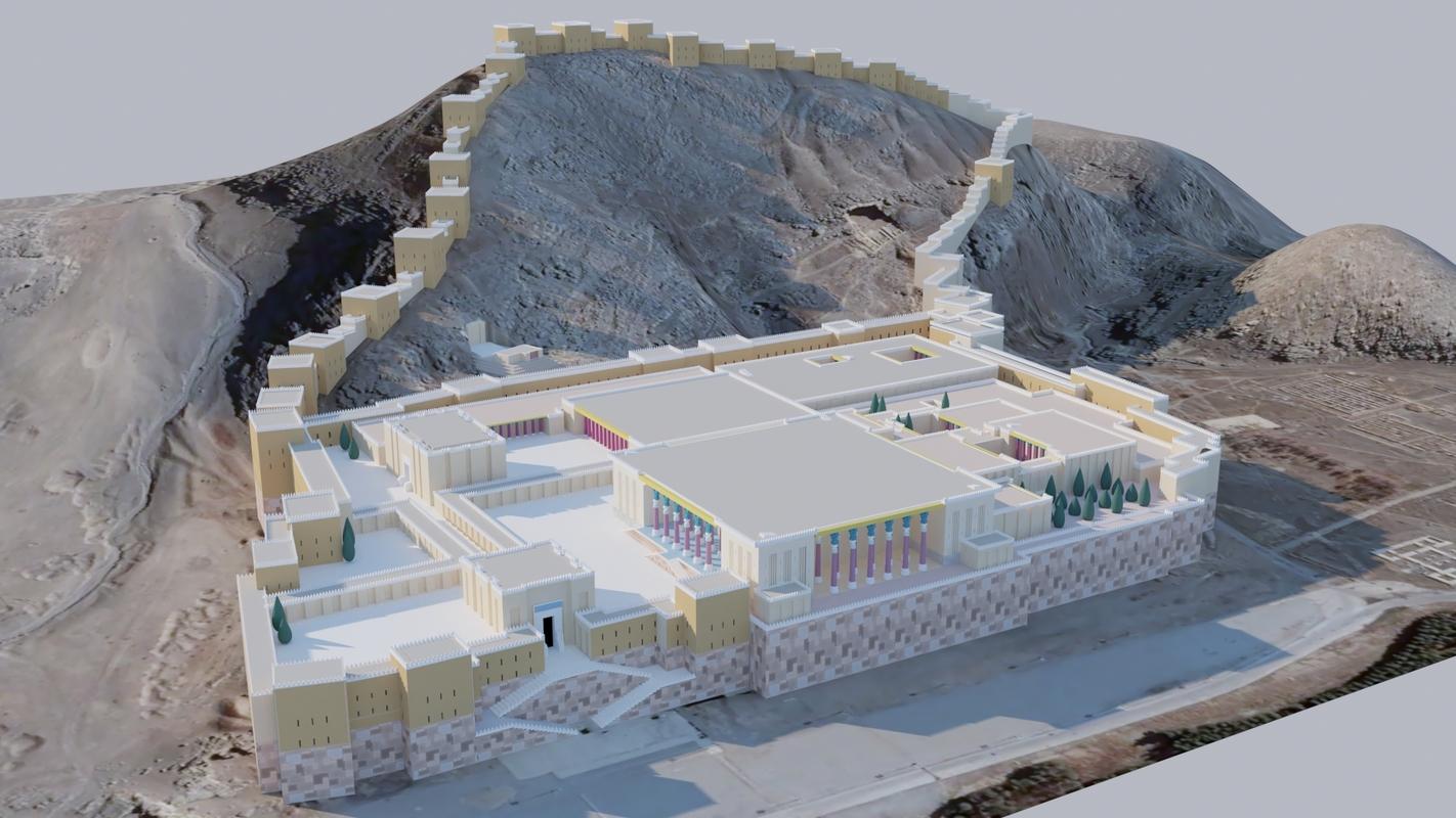 3D persepolis ceremonial capital