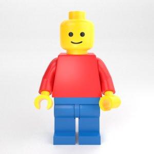 lego minifigure standard minifig 3D model