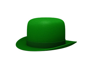 3D green party hat