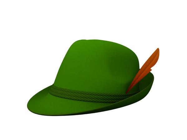 3D bavarian hat
