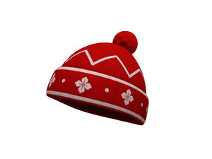3D knitted hat