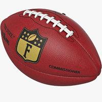 3D football american ball model