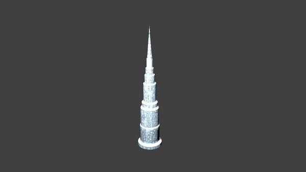 tower prisms 3D model