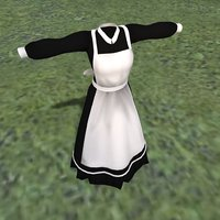 3D model maid outfit