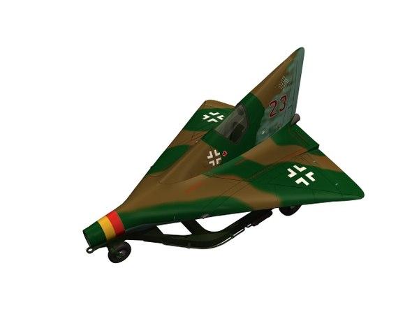interceptor fighter lippisch 3D model