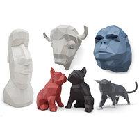 3D model animals sculpture origami