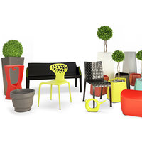 3D terrace plastic furniture accessories